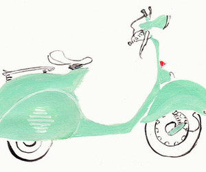 scooter, Vespa, and cute image