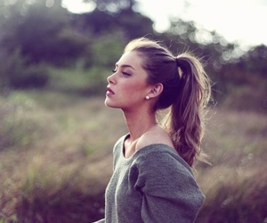 girl, hair, and nature image