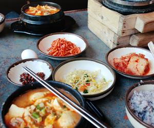 food, korea, and korean food image