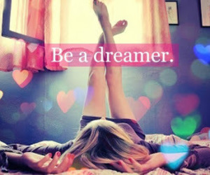 Dream, hearts, and dreamer image