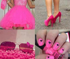 pink, dress, and nails image