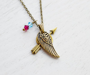 pi beta phi, arrow necklace, and wing pendant image