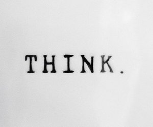 think, text, and quotes image