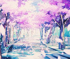 anime, sakura, and japan image