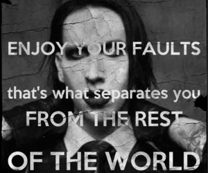 Marilyn Manson, quote, and fault image