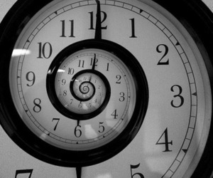 clock, time, and black and white image