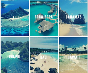bahamas, hawaii, and bora bora image