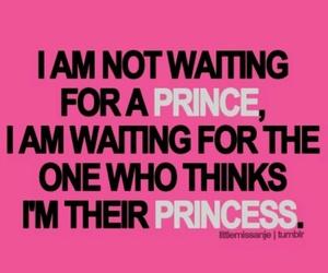 princess, prince, and quote image