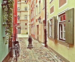 old city, riga, and vintage city image