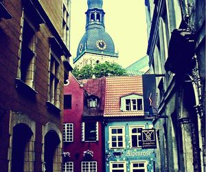 old city, riga, and street image
