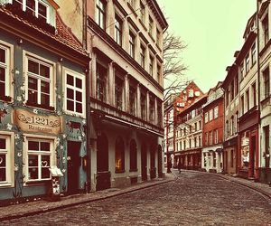 old city, riga, and vintage image