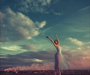 ballet, dance, and sky image