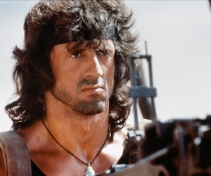 sylvester stallone and rambo image