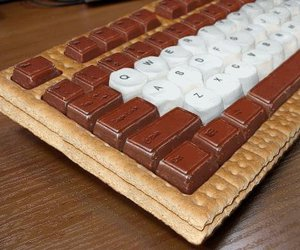 chocolate, keyboard, and food image