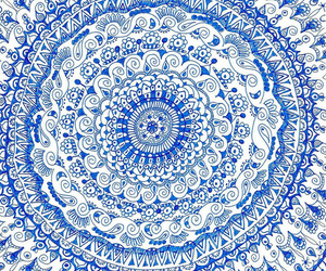 blue, art, and mandala image