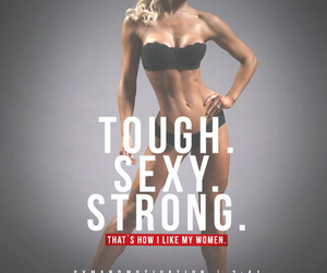fit, sexy, and strong image