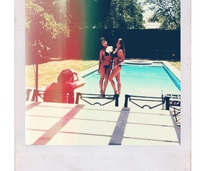 2 girls, beautiful, and pool image