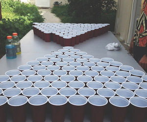party, beer pong, and cup image