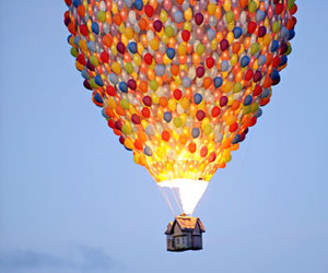 balloons, up, and colors image