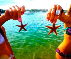 girl, summer, and starfish image