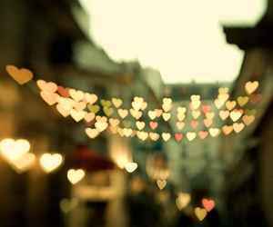 hearts, lights, and photography image