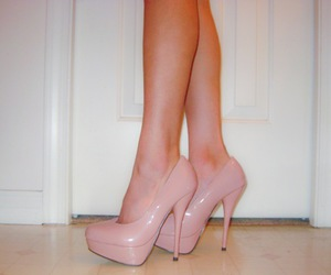 heels, high, and legs image