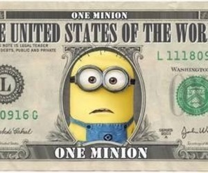 minions, money, and dollar image