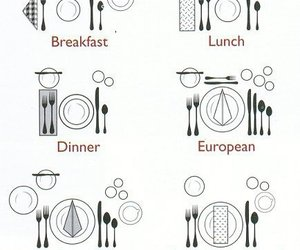 dinner, etiquette, and food image