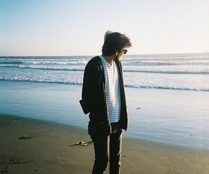 boy, sea, and beach image