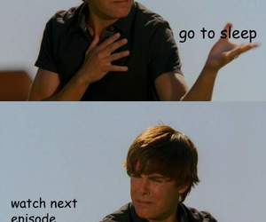 funny, zac efron, and sleep image