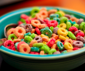 cereal, colorful, and cornflakes image
