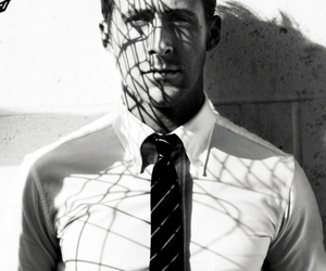 black and white, gq, and ryan gosling image