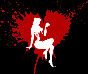 blood, Pin Up, and heart image