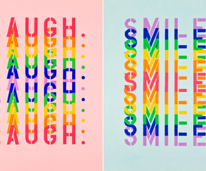colorful, laugh, and smile image