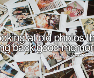 memories, photo, and quote image