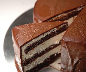 cake, chocolate, and cream image