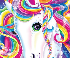 unicorn, lisa frank, and colorful image