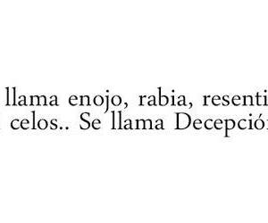 decepcion, frases, and amor image