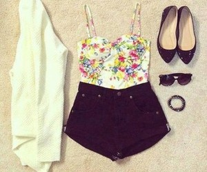 bralette, fashion, and floral image