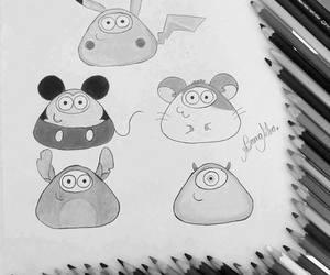 pou and pikachu image