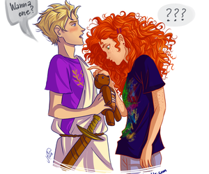 octavian, rachel, and percy jackson image