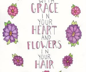 flowers, quote, and grace image