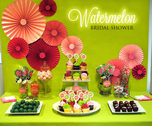 cake pops, cupcakes, and garden party image