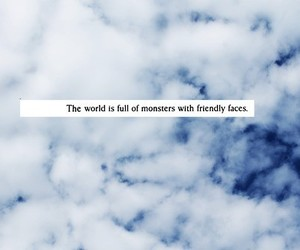clouds, monsters, and quote image