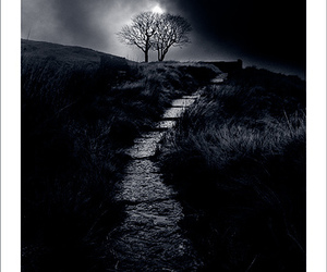 black & white, haworth, and top withens image