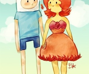 adventure time, love, and couple image