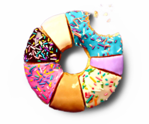 donuts, food, and colorful image