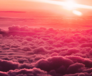 heaven, pink, and pink sky image