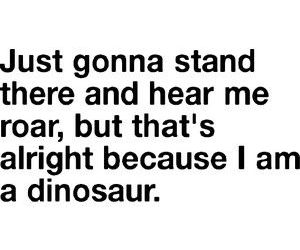 dinosaur, text, and funny image