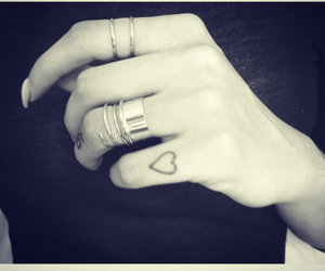 tattoo, heart, and rings image
